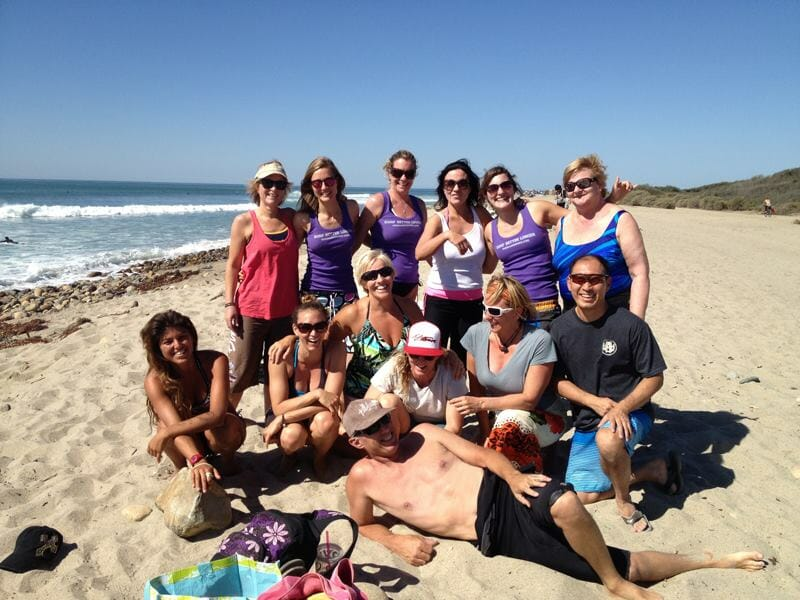 Yoga for surfers team