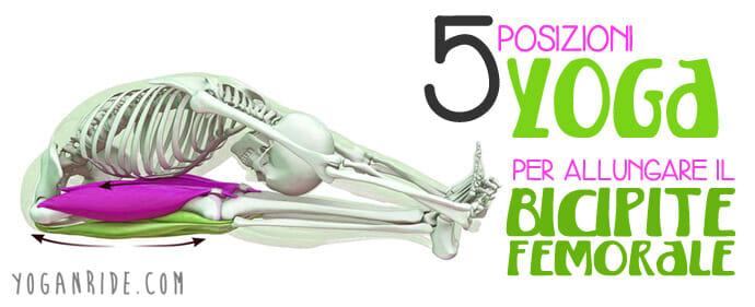 posizioni yoga per allungare il bicipite femorale